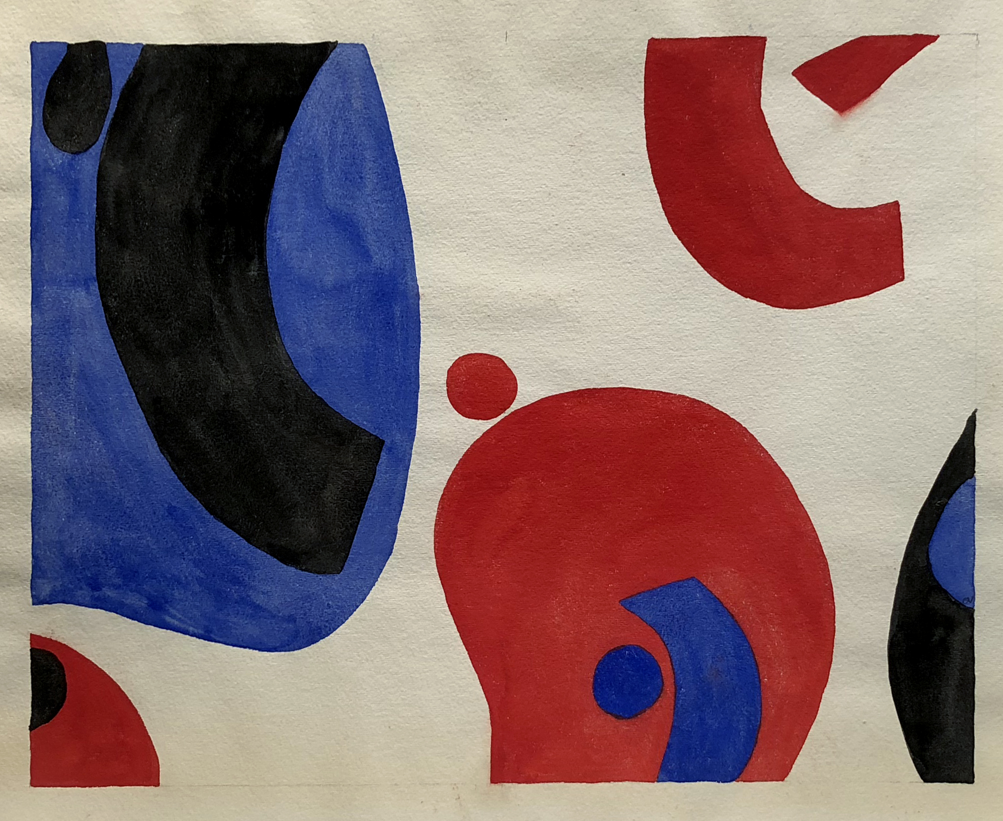 Ocean Motion, Watercolor on Paper, 19 x 24 inches, 1966