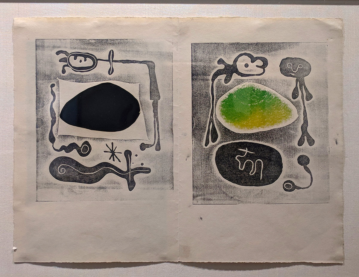 LOT 80 Joan Mirό, L'Atitete (open as framed)