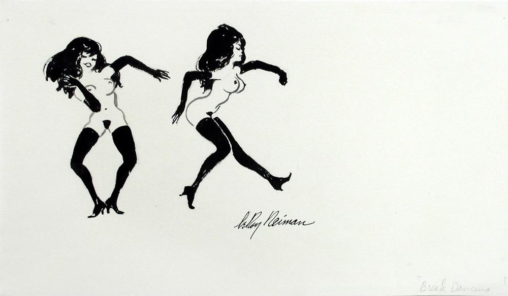 LOT 183 LeRoy Neiman, Femlin: Breakdancing ORG Mixed media on paper, 10 X 18 in.