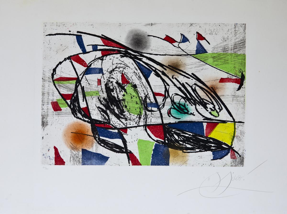 LOT 165 Joan Miró,  Enrajolats I 21/30, Etching with aquatint, 14.5 x 20.6 in.