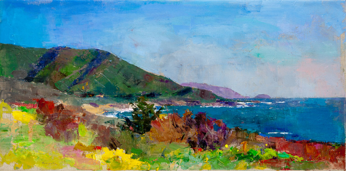 Big Sur Coast, Oil on Canvas, 14 x 28 in.