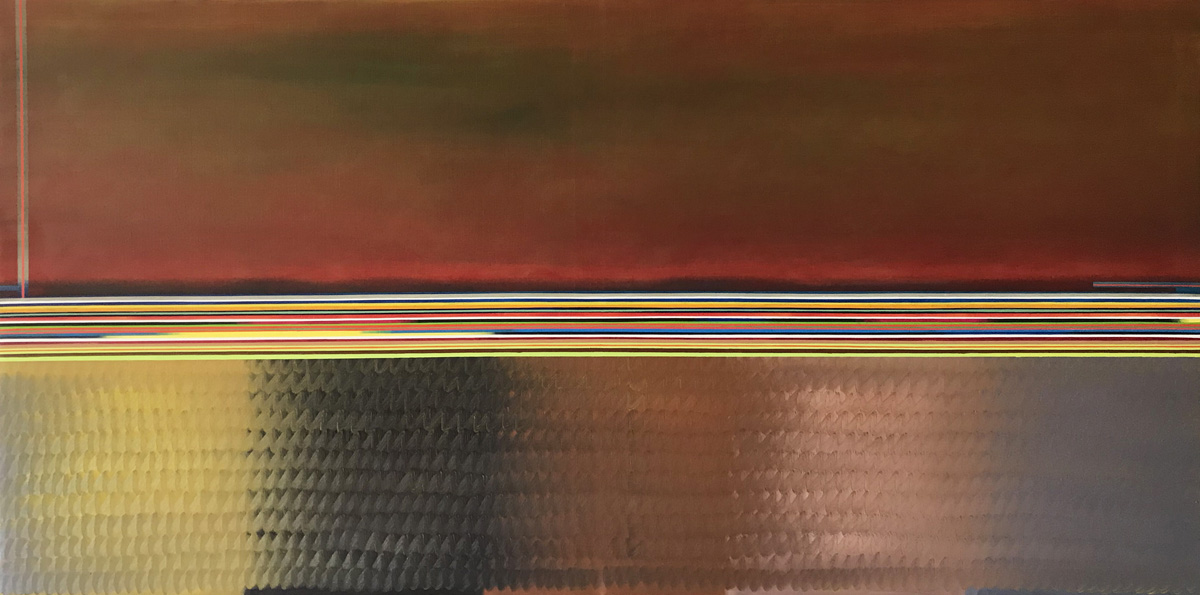 Lndskp 1, Oil on canvas, 39 1/4 x 78 5/8 in. (100 x 200 cm), 2018