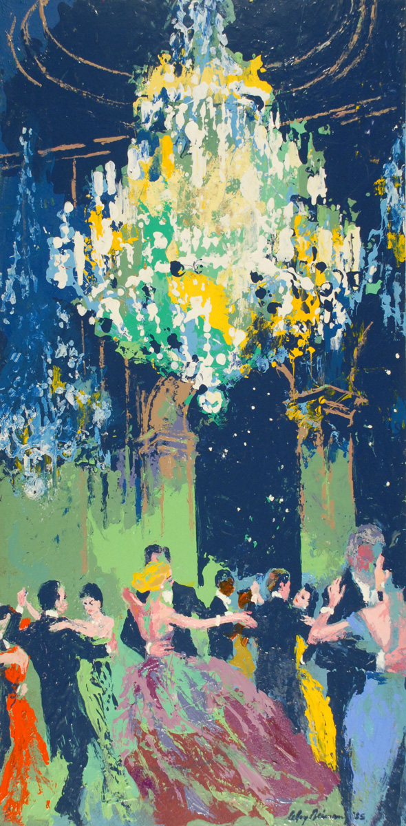 Starlight Golf Ball, acrylic and enamel on board, 24 x 12 in., 1985