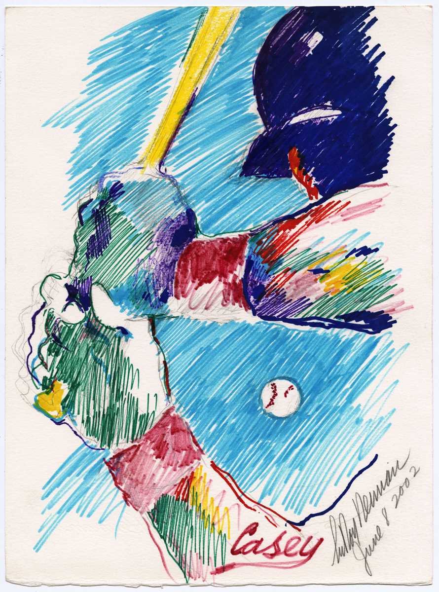Casey, mixed media on paper, 13 5/8 X 10 1/8 in., 2002