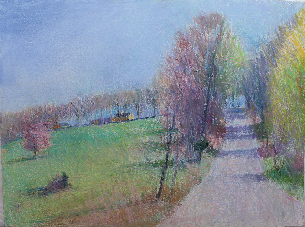 Bedford Path, pastel on paper, 30 x 40 in.