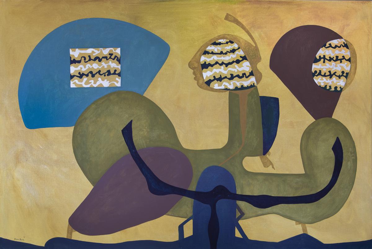 SOLD La posita, oil on canvas, 51 x 76.75 in. (130 x 195 cm), 2018