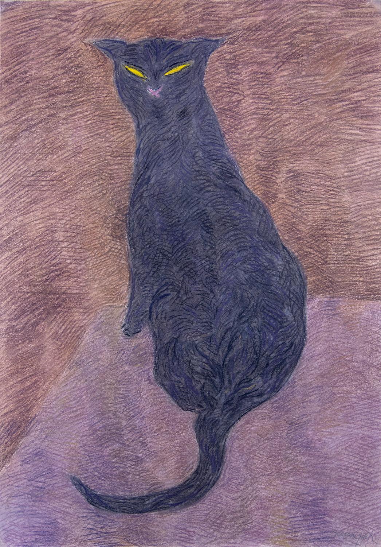 Etudes pour les (Fleur du mal), pastel on paper, 28 x 19.6 in.(65 x 50 cm),2005