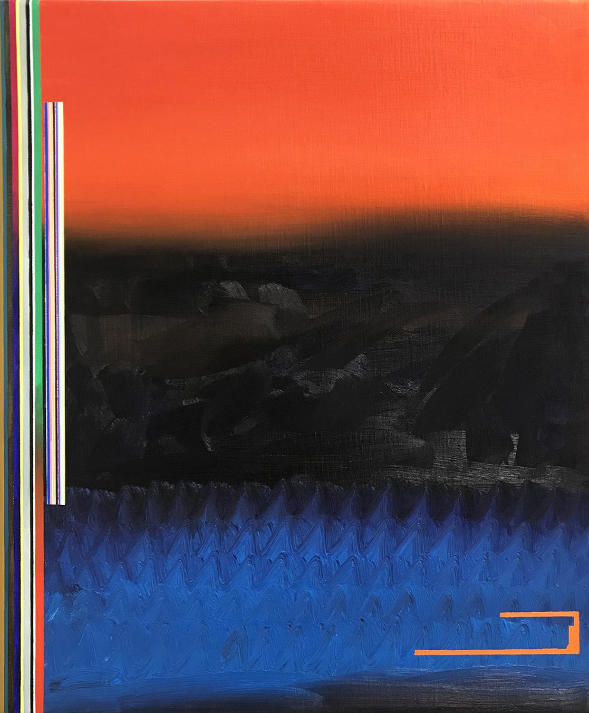 SOLD Miquel Gelabert: Paisatge de Juny 1, oil on canvas, 25.5 x 21.2 in., 2018