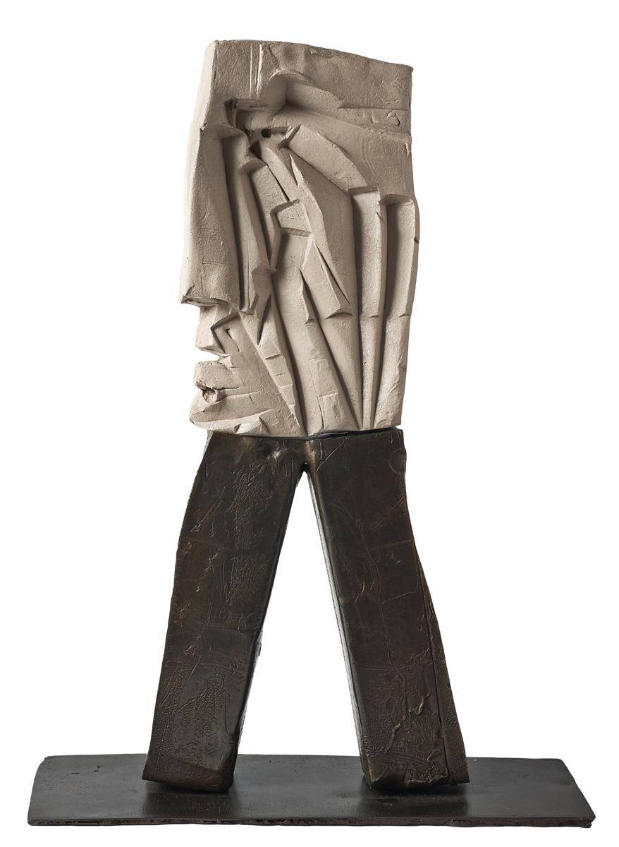 Agustí Puig: Two Colours Figure #2/3, bronze, 27 x 20 x 7in., 2016