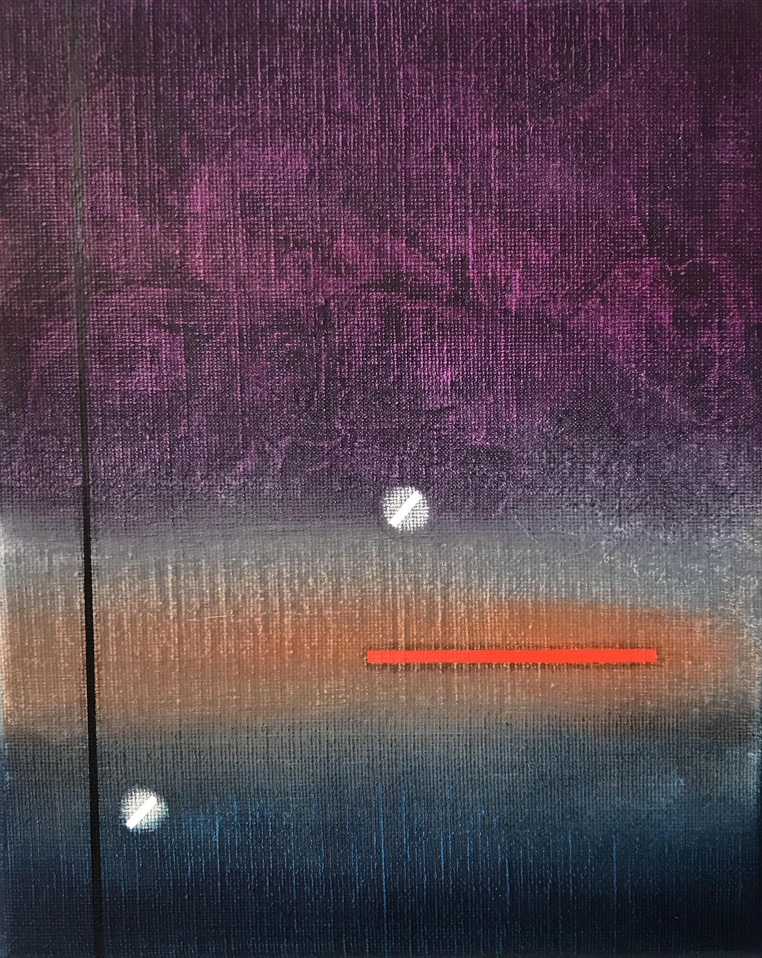 Miquel Gelabert: Strangers in the Night 2 oil on canvas, 10.75 x 8.5 in., 2018