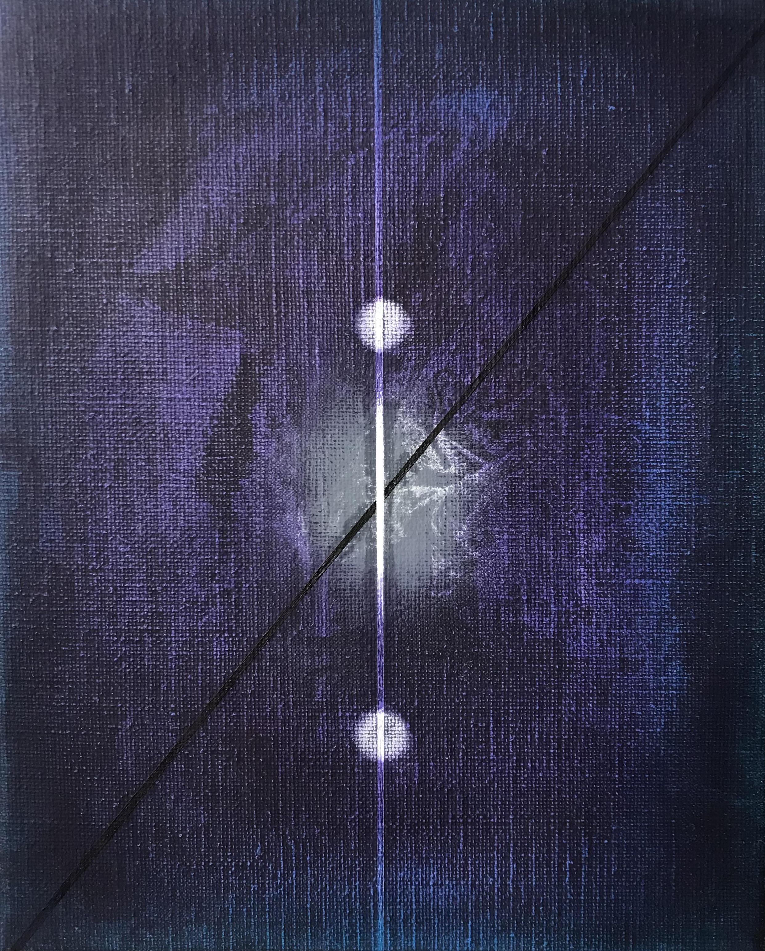Miquel Gelabert: Strangers in the Night 3, oil on canvas, 10.5 x 8.5 in., 2018