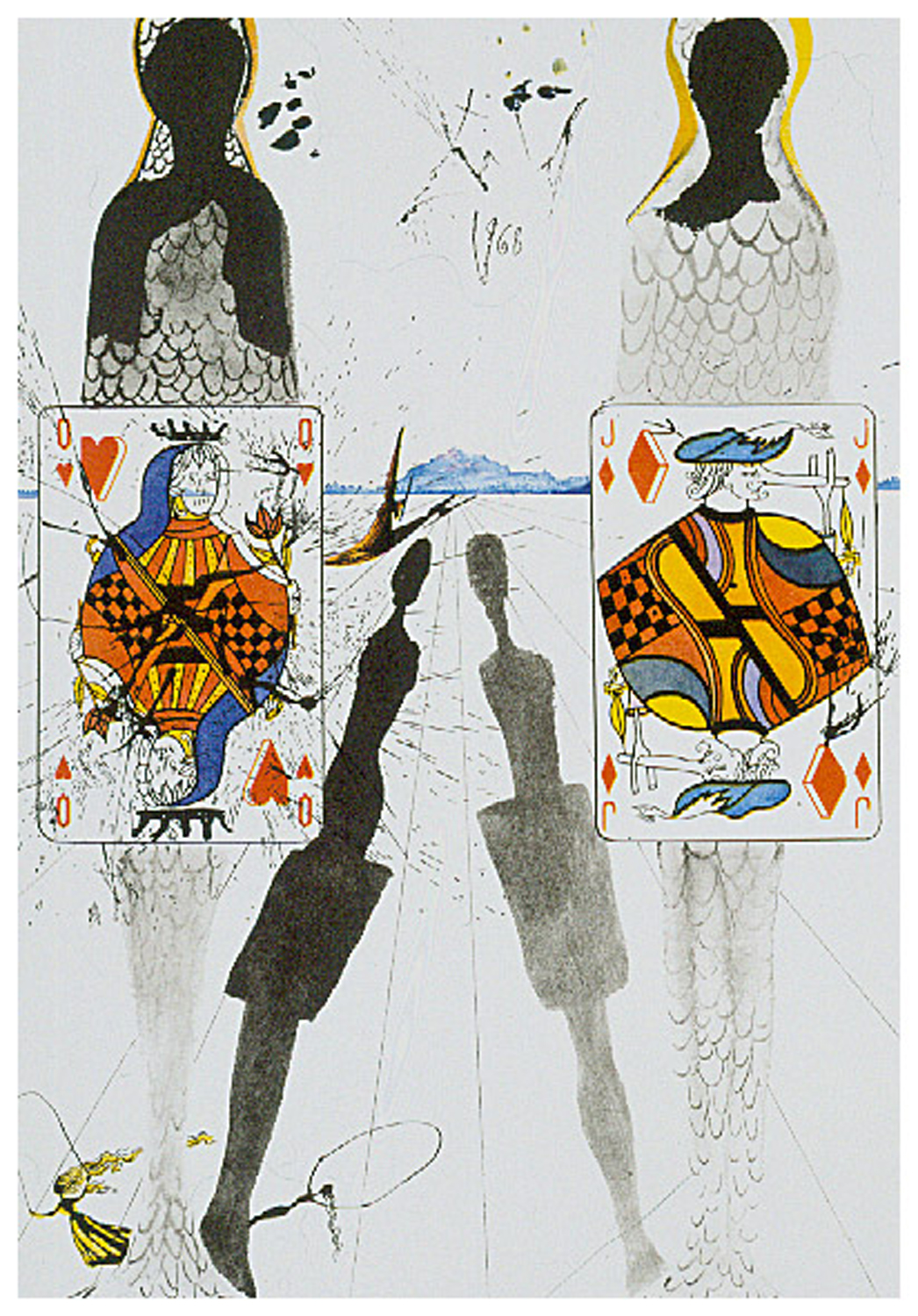 Alice in Wonderland: The Queen's Croquet Ground, heliogravure, 17 x 11.75,  unsigned 889; hc arches, 1969, ML 329