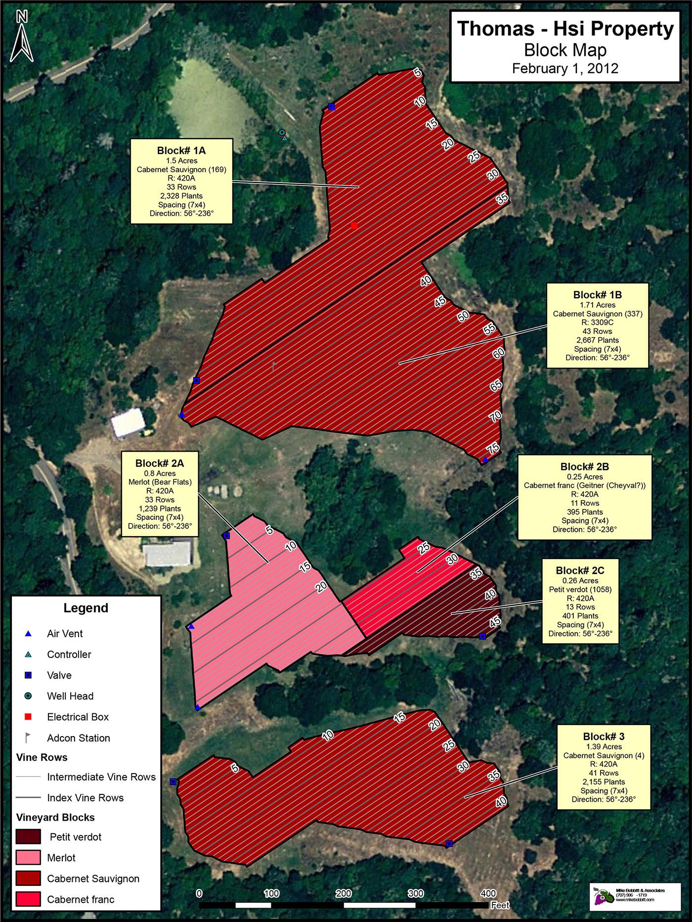 Thomas-Hsi Vineyard Map