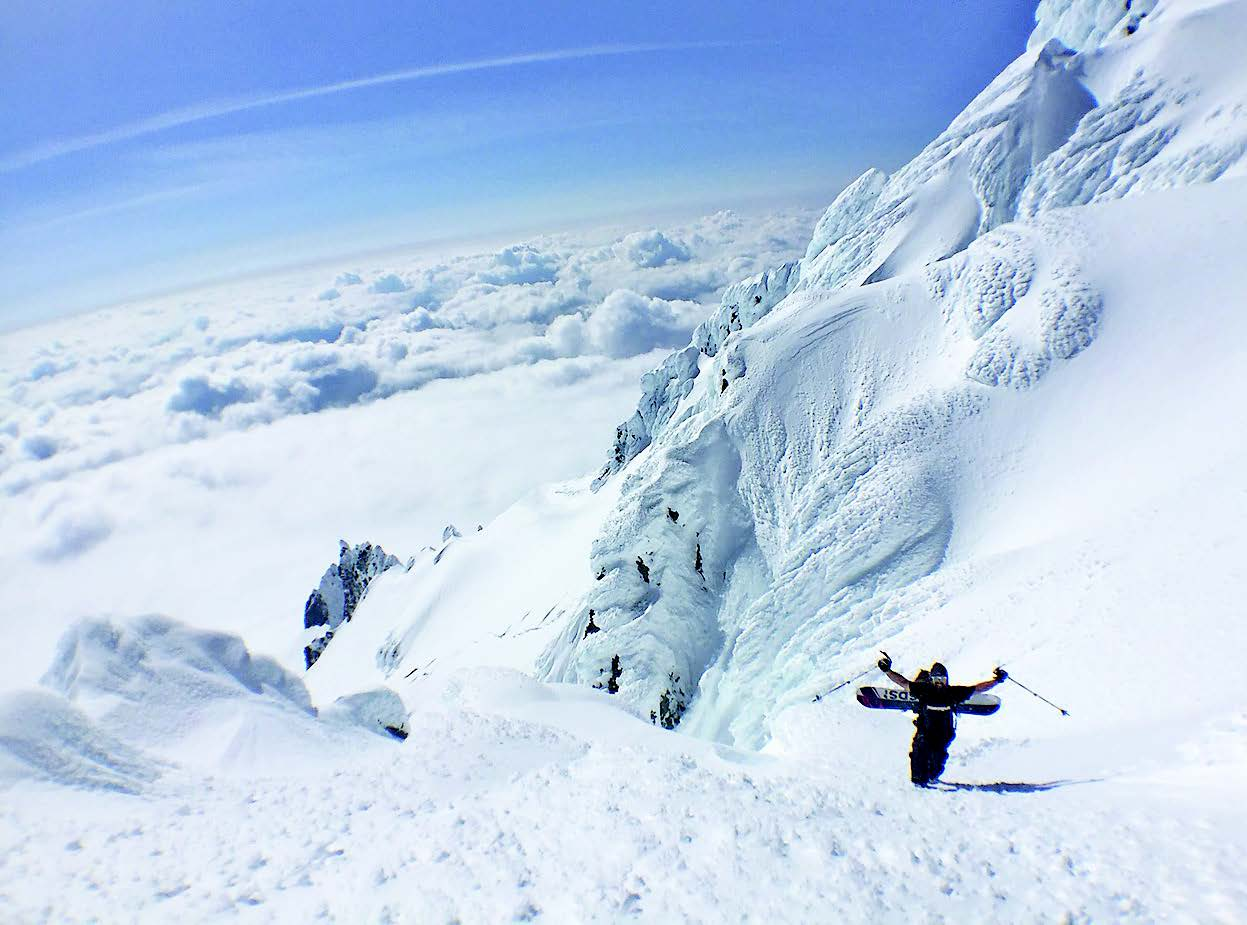 Black McCoy coming through the Pearly Gates just shy of the summit (Photo: Asit Rathod)
