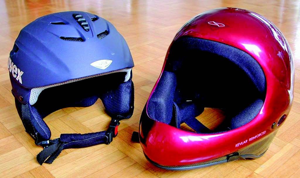 Make sure you have helmets that fit you properly.