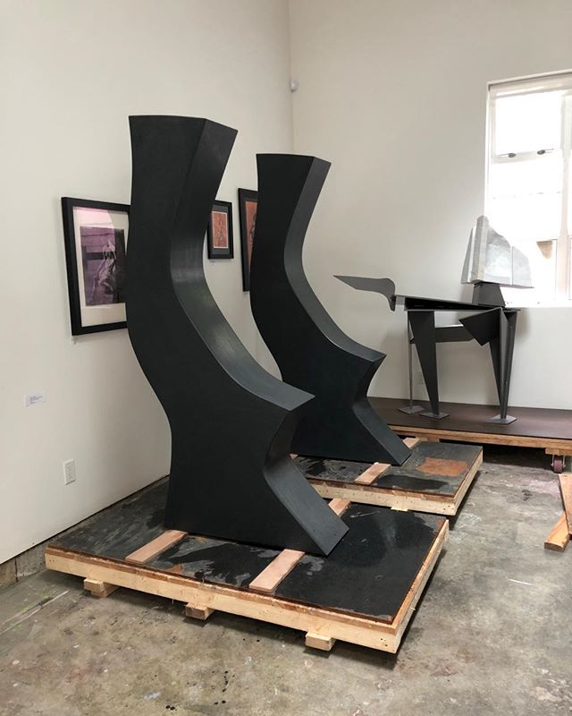DIFFERENT, is BEAUTIFUL #2 if 3 #black granite #ensemble #sculptures #studio