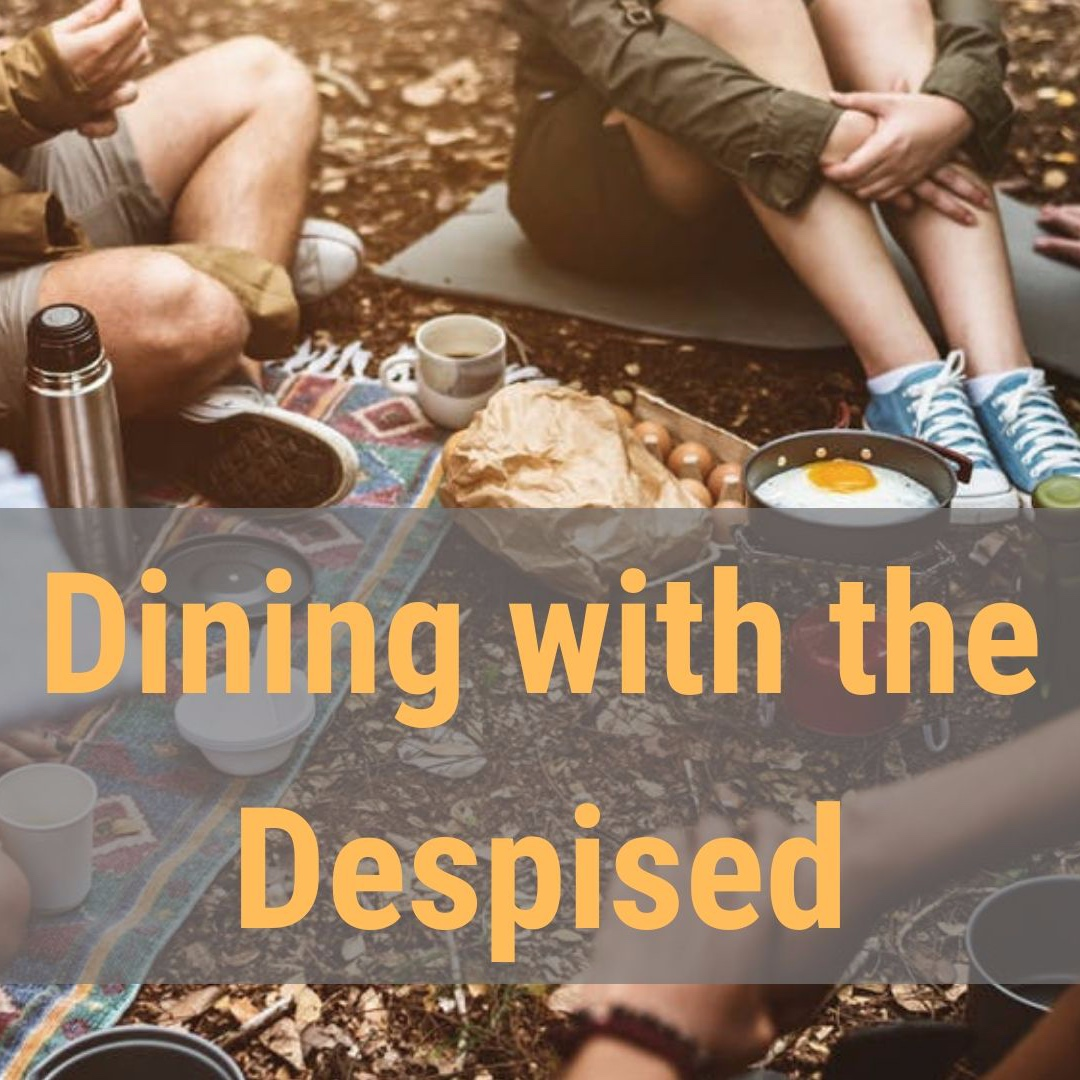 Dining with the Despised   Luke 5:27-32 - It's easy to look down at the Pharisees in the Bible; they're shown in a pretty poor light, after all. But what if they were the only ones acting rationally, according to their way of living, and Jesus was some strangely popular rebel who needed to be dealt with before things got out of control? Take Levi, for instance. He claimed the parts of being a Jew that benefitted him, but besides that he was a walking betrayal of God's chosen people! Ritually unclean, hasn't been to Synagogue in years, morally disgusting—this guy was as far up the organized crime ladder that Roman authorities would let a Jew get, and he had done whatever it'd taken to get there. But Jesus doesn't seem to mind. He doesn't do anything like how upstanding citizens should act towards people like that—he invites him to dinner. More than that, he invites him to be one of his disciples and tells him to get as many of his mobster friends together for a party to celebrate it! The Pharisees are angry, to put it politely. Who wouldn't be?