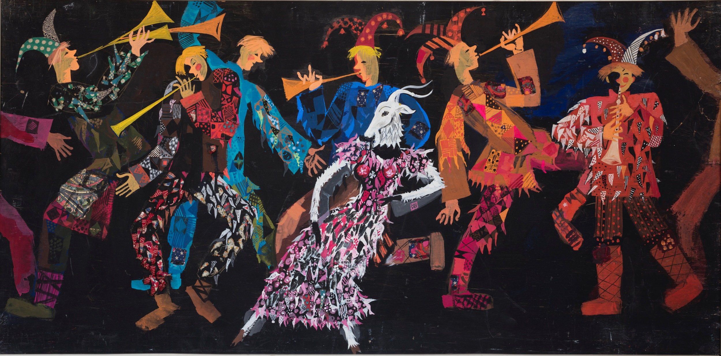 """Characters for the concert program . Theatre -studio """" Skomoroch"""" , Moscow 1974"""