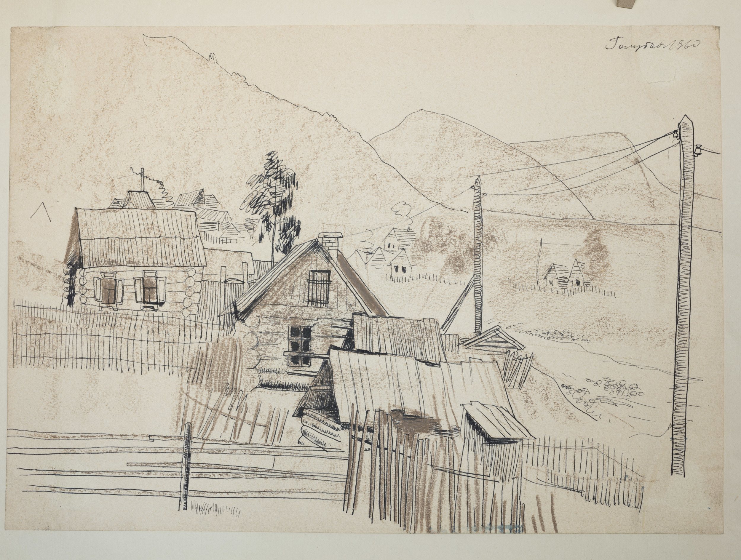 Siberia  Pencil and Ink on paper 1960