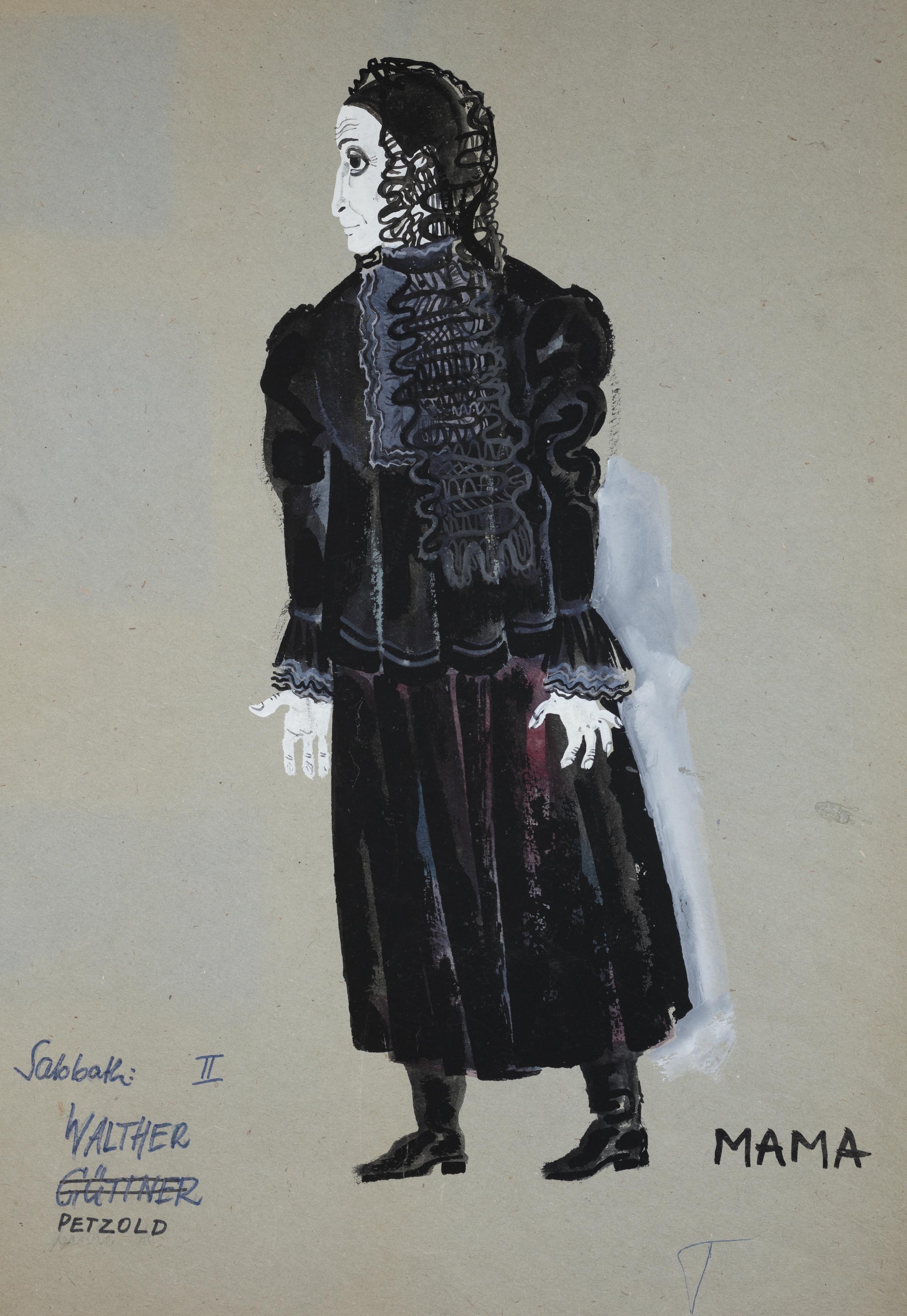 Fiddler on the Roof  by Jerry Bock . Costume design. Komishe Oper, Berlin 1971