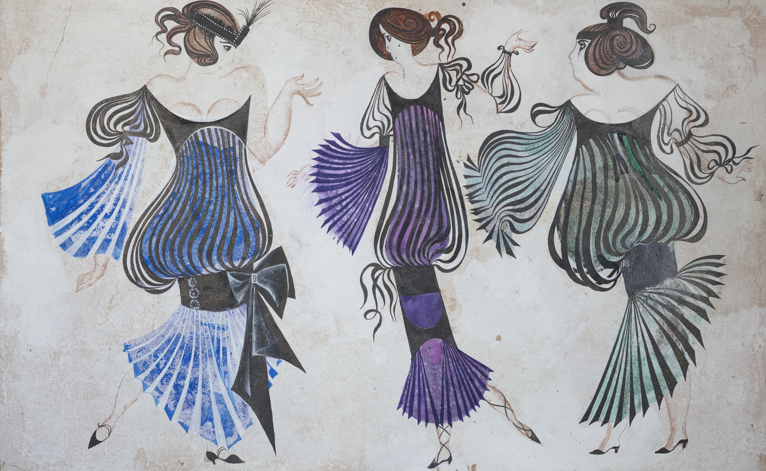Csardas Queen  by Imre Kalman . Costume design. Theatre of Musical Comedy, Leningrad, 1969