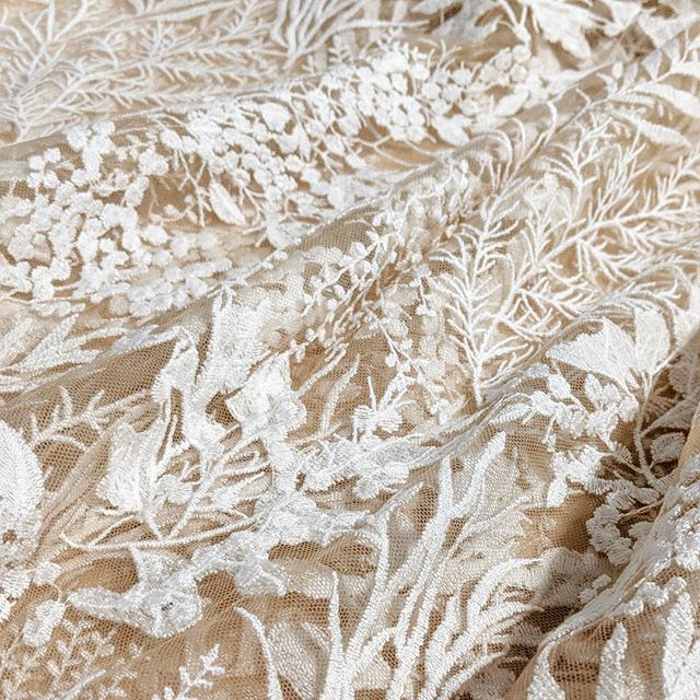 Getting started on a new #weddingdress with my new favorite fabric. #lovewhatyoudo #weddinginspo