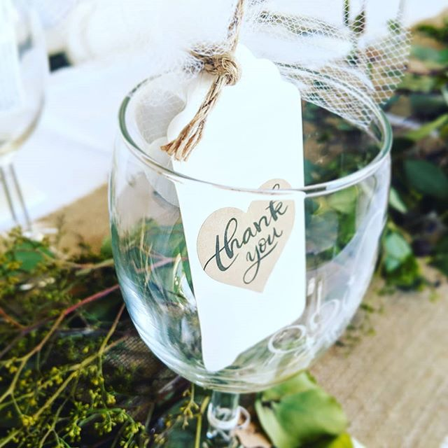 Beautiful favors from the wonderful vineyard wedding of our friends Evan and  Emmelia ❤️