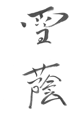 Calligraphy style SETSU-IN