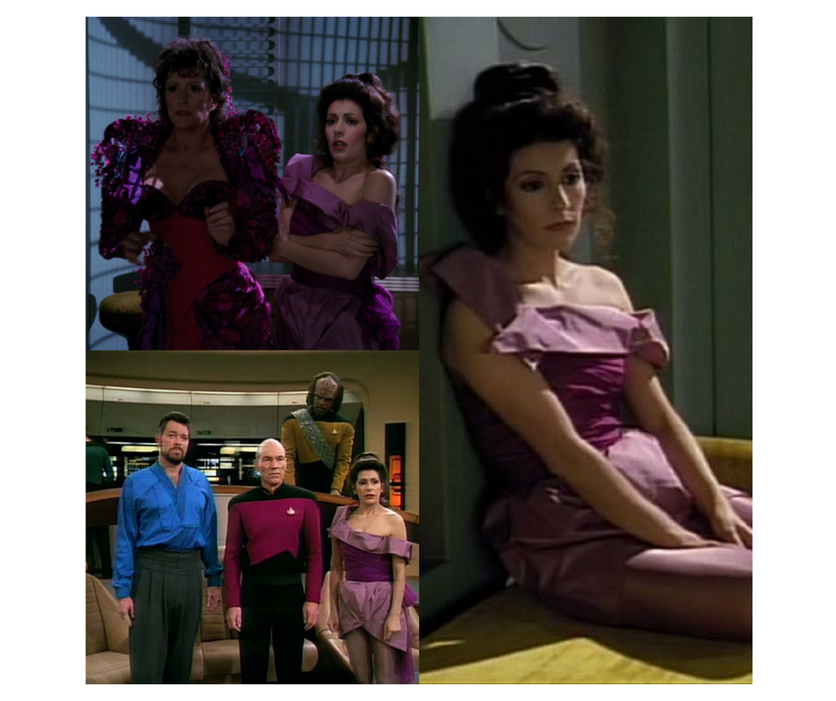 Troi's off duty look, from ST:TNG costume designer Robert Blackman