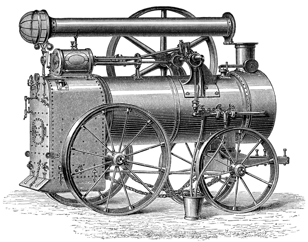 Watts' steam engine.