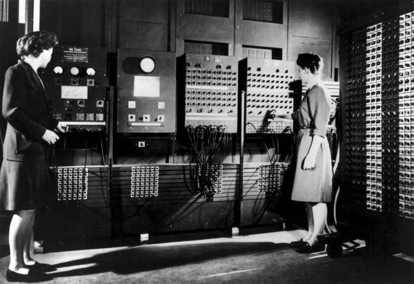 The ENIAC - the very first (legit) computer.