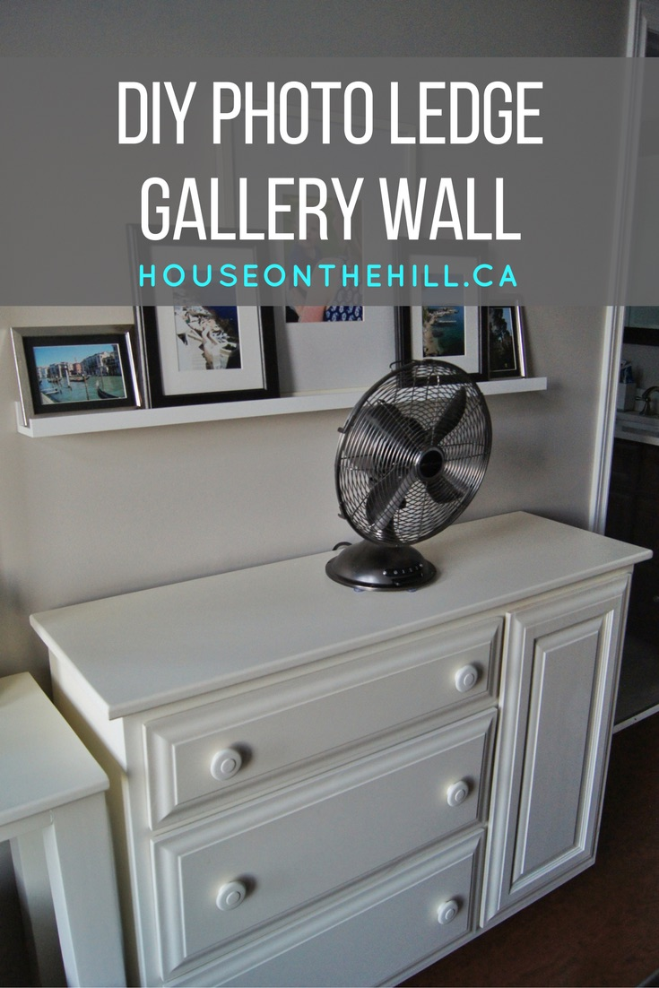 DIY Photo Ledge Gallery Wall