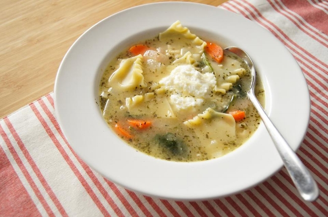 White Lasagna Chicken Soup