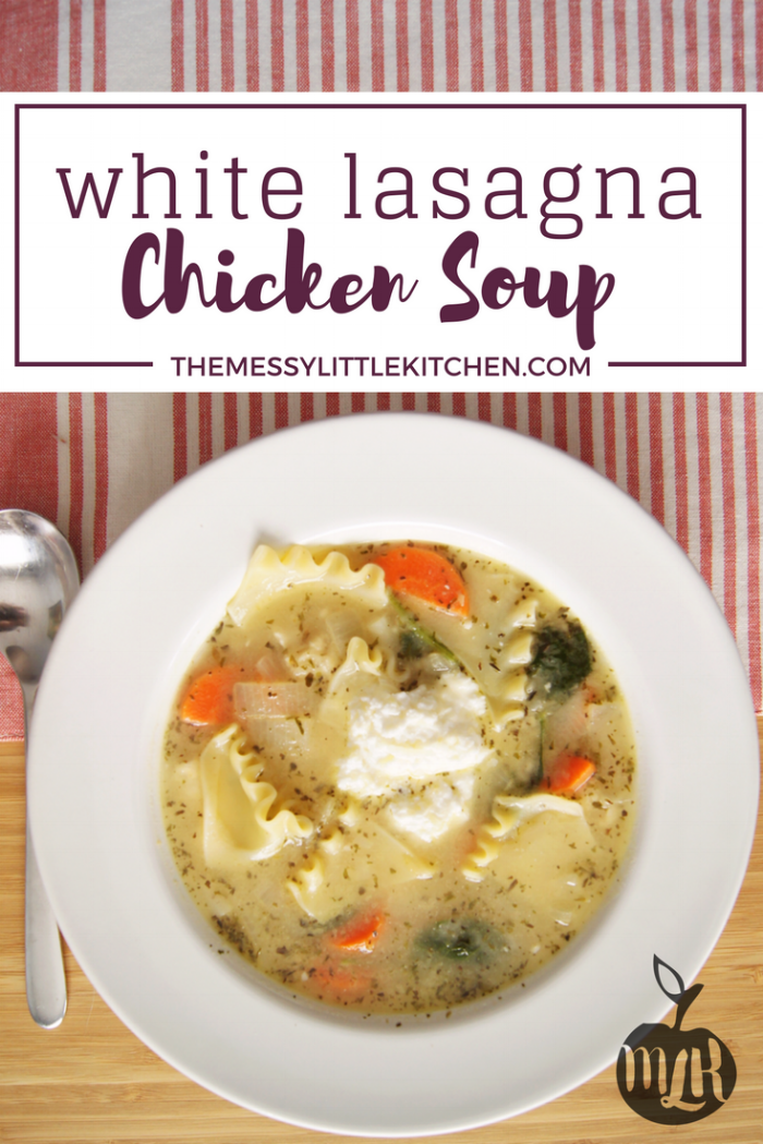 This recipe for White Lasagna Chicken Soup is an easy chicken soup that is delicious comfort food during cold weather.It is definitely a new family favourite and arguably one of those chicken soups for the soul. Coming together in only 30 minutes, and with the flavour of a gourmet soup, it's a recipe you will want to add to your meal plan in the near future!