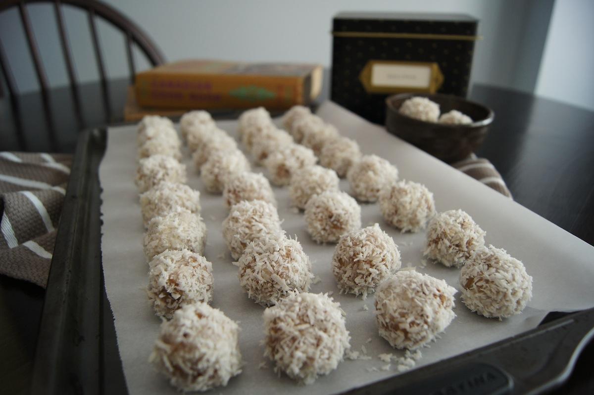 No Bake Coconut Almond Truffle Cookies