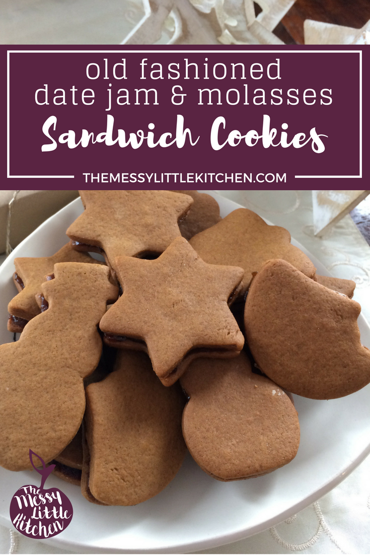 Old Fashioned Molasses & Date Jam Sandwich Cookies (Jam Jams)