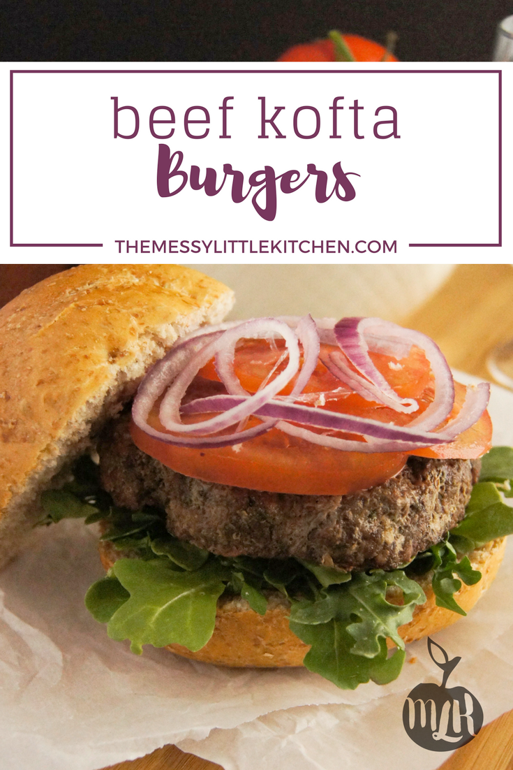 Beef Kofta Burgers. It's grilling season, which means it's also time for easy hamburger recipes for dinner! This burger recipe is a family favourite, and the Middle Eastern inspired ingredients that flavour it are arguably one of the best burger seasonings for grilling that you will easily have on hand, any time at all, in your pantry! These burgers taste just like Beef Kofta Kebabs and make beautiful, thick juicy burgers you can enjoy this BBQ season.