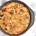 5.  Hearty Spiced Baked Sausage & Veggie Frittata (35 minutes), from Laurence Makano   You can whisk up this easy Frittata in no time, and have dinner ready in a handful of minutes. Paired with a fast side salad, and your meal is complete!