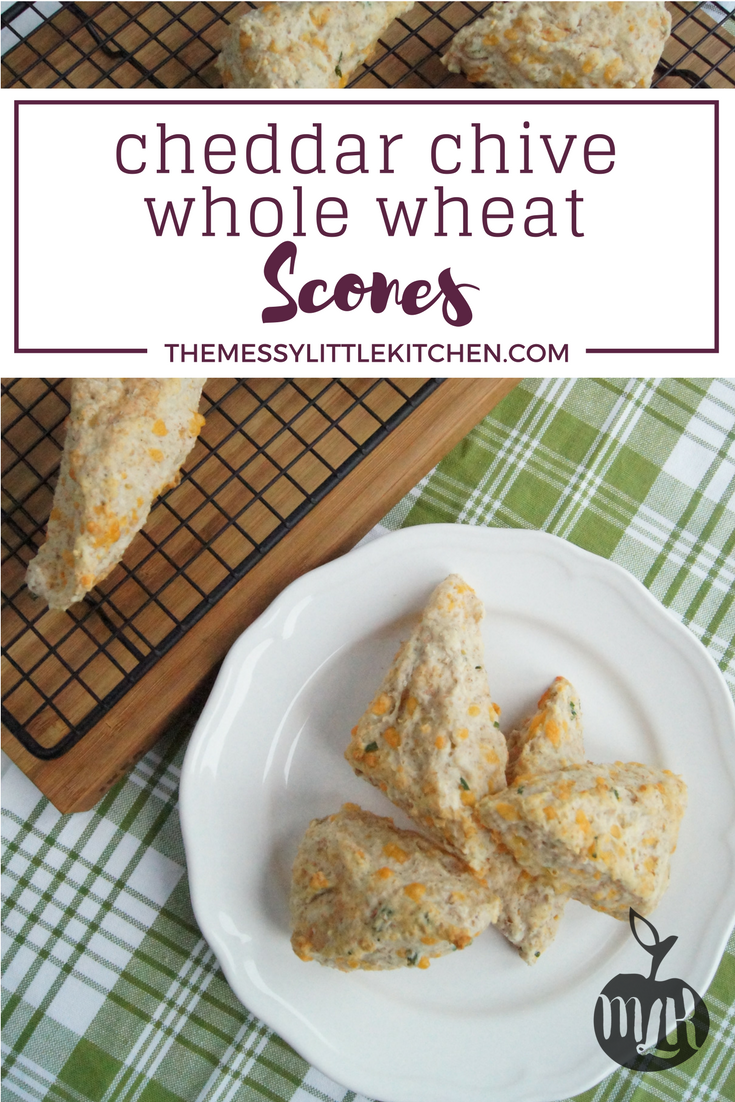 Cheddar Chive Whole Wheat Scones