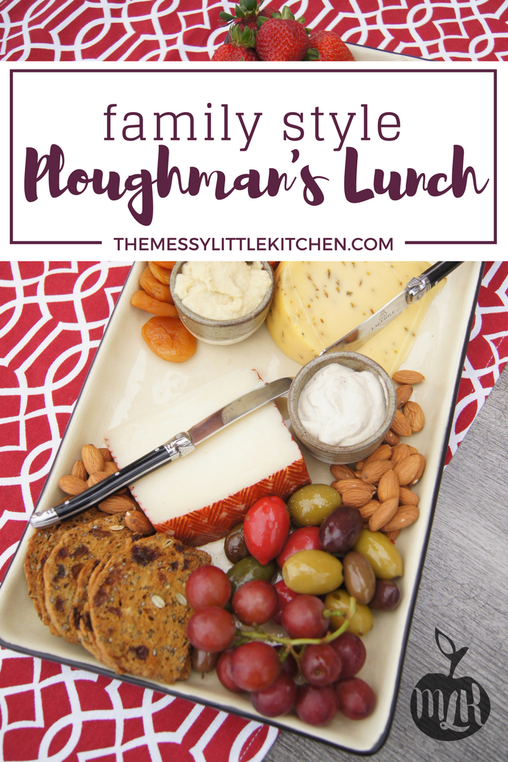 Are you thinking about trying to make that perfect meat and cheese platter for Father's Day or Dad's birthday? Maybe you're just searching for another easy summer meal, or family-friendly recipe that the whole family will enjoy and have fun with. A Family-Style Ploughman's Lunch, which is essentially a combined cheese board and charcuterie platter, is a easy and impressive looking meal that is delicious and will engage the whole family. Loaded with fruits, vegetables as well as whole grain crackers, breads and cheeses, there's something everyone will enjoy during this mealtime. Cheese board. Charcuterie platter.