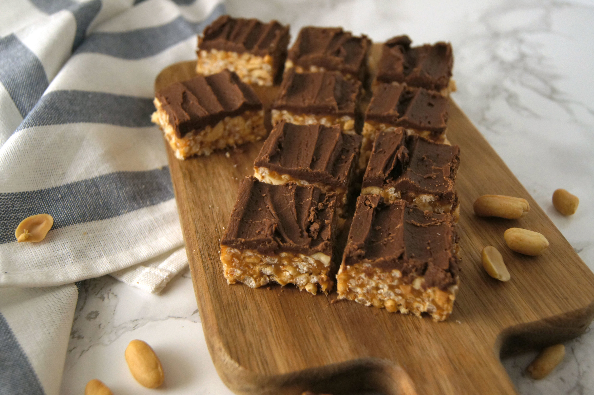 Sweet Marie Squares with Chocolate Icing