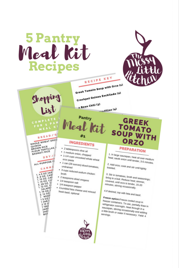 How to Create a Meal Planning Pantry - Free Pantry Meal-Kit Recipes