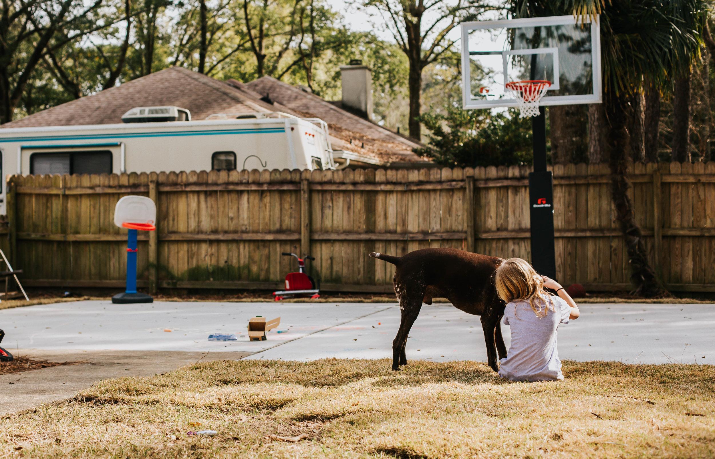girl and her dog Fairhope Alabama