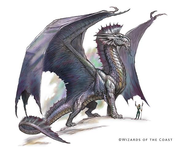 Silver Dragon - By Todd Lockwood (  TODDLOCKWOOD.COM  )