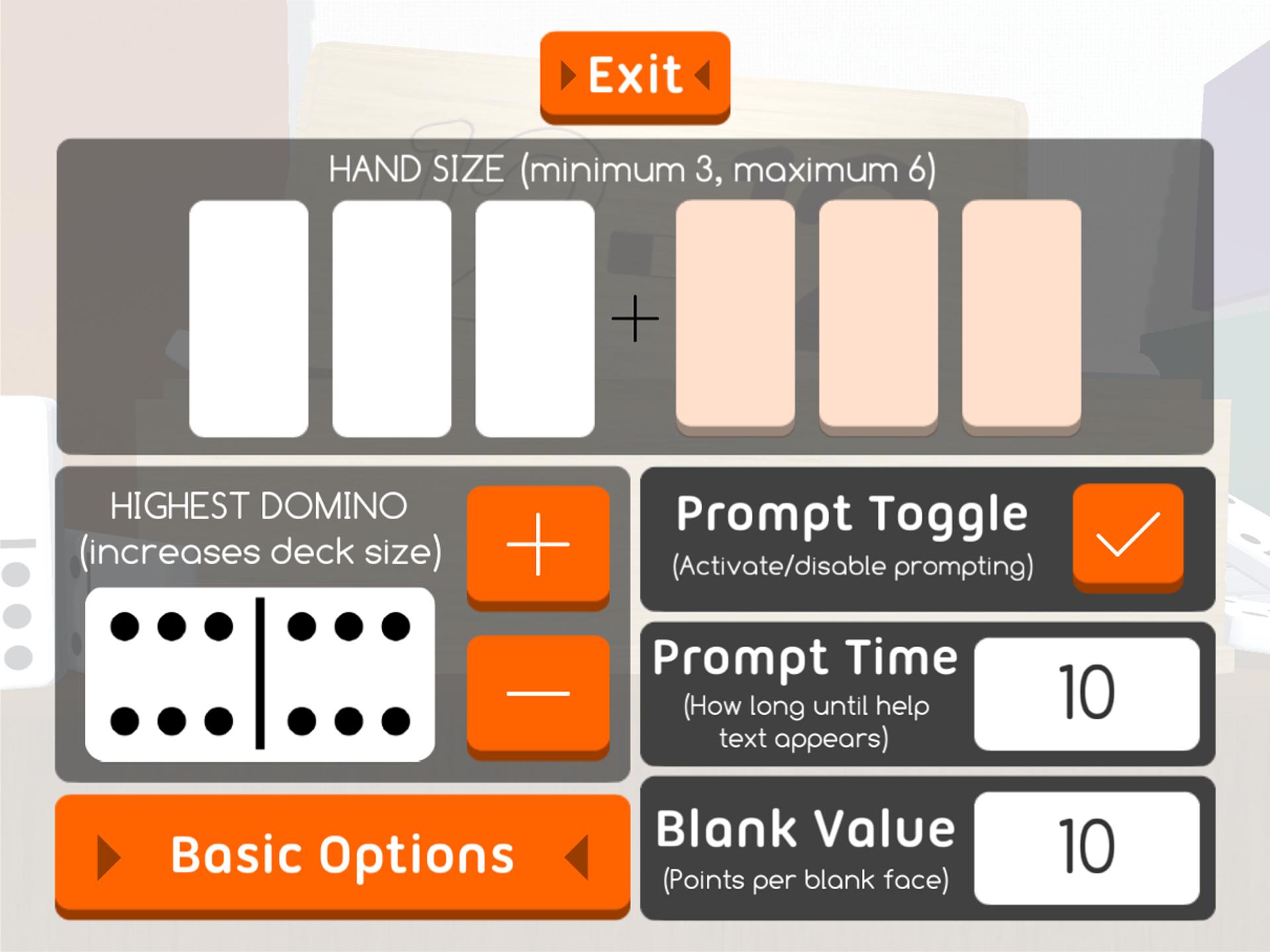 Figure 7.3 - Advanced Options