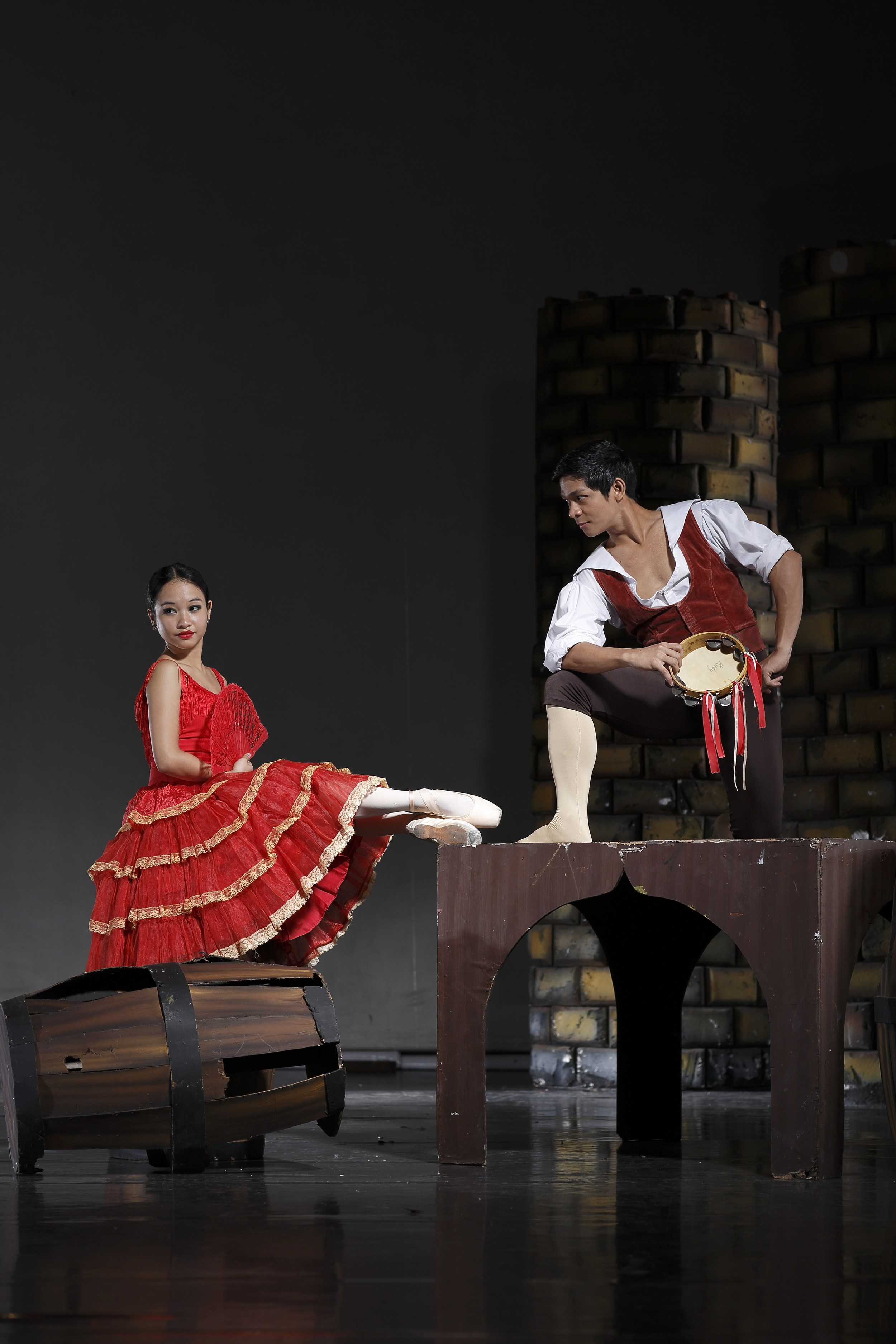 Principal dancer Gerardo Francisco and soloist Pia Dames are set to take on ballet's most iconic characters - Basilio and Kitri of  Don Quixote .