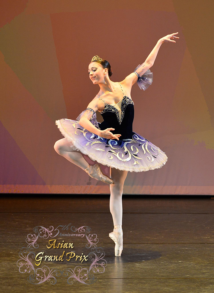 Katherine Barkman enters competitions with the mindset that she is there to give the audience the highest quality art she can produce. Photo courtesy of Asian Grand Prix