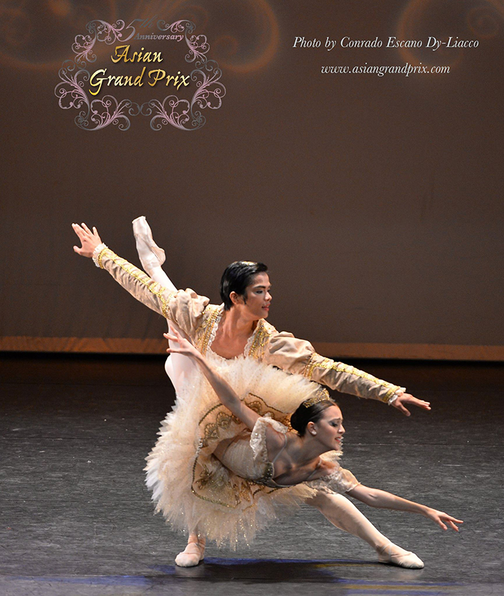 Katherine is also named silver medalist, along with partner Elpidio Magat Jr., in the AGP 2015 Pas de Deux Division. Photo courtesy of Asian Grand Prix
