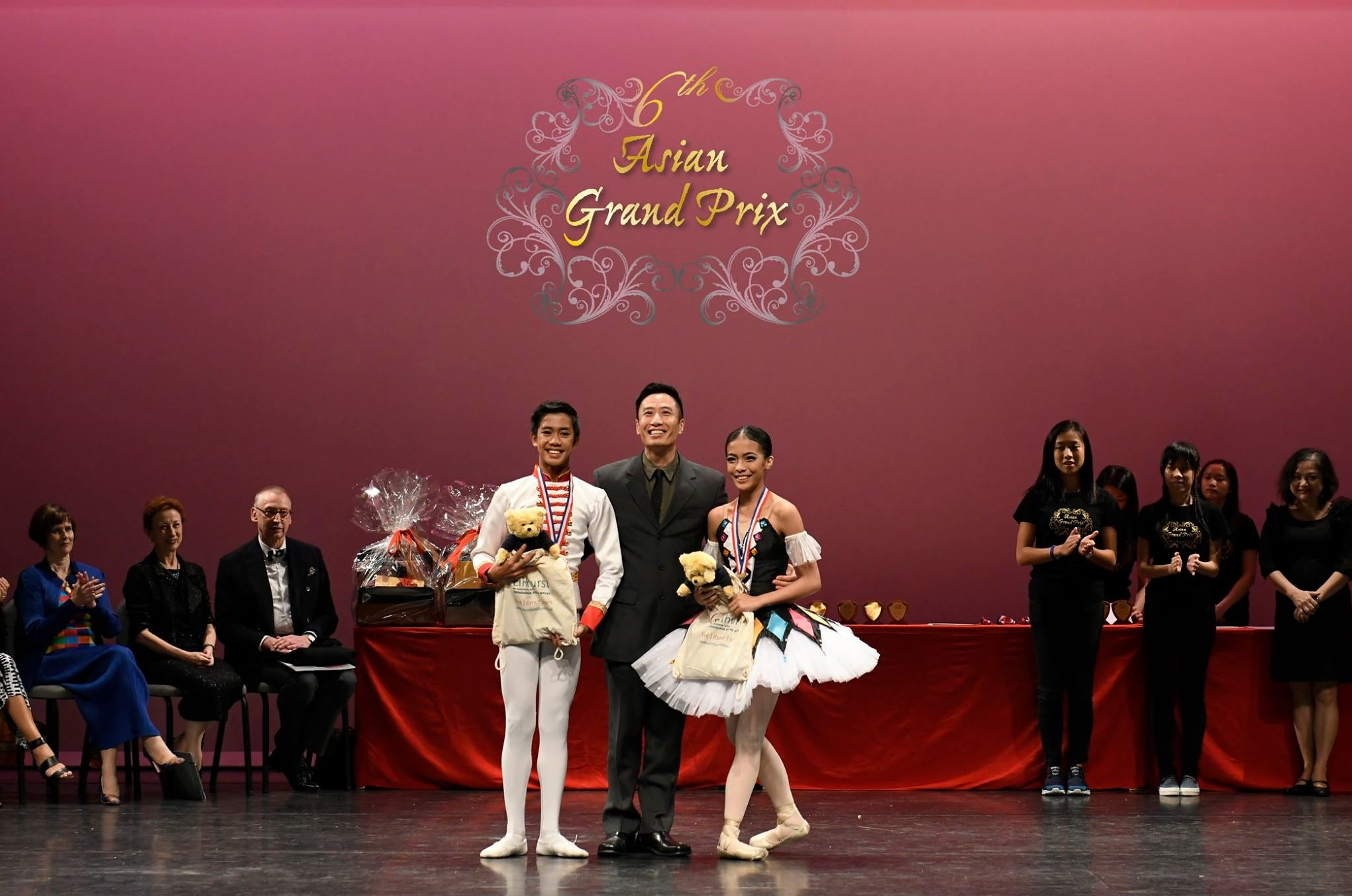 Two Filipinos received summer school scholarships from the Elmhurst School of Dance in Birmingham, United Kingdom: Nicole Barroso of Lisa Macuja School of Ballet Manila (right) and John Edmar Sumera of Academy One Music and Dance Center (left). Photo courtesy of Asian Grand Prix