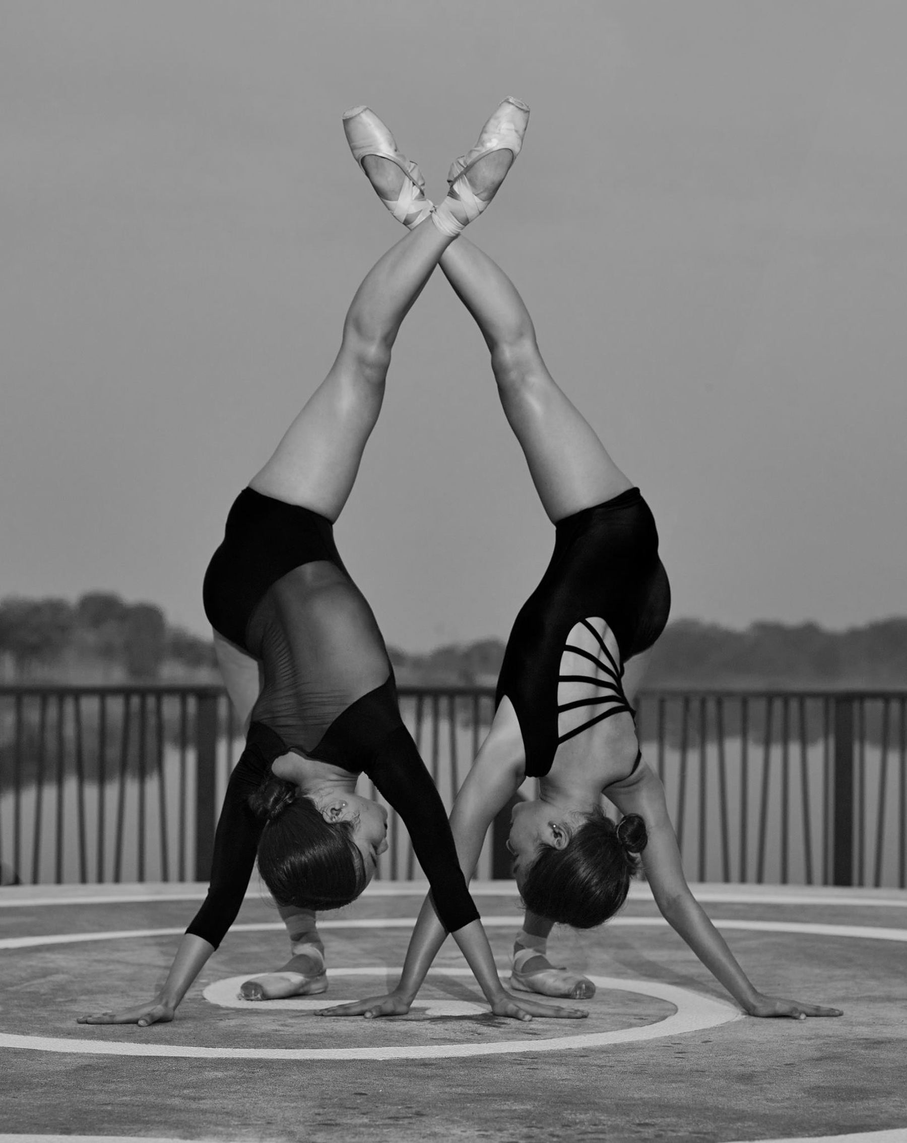 Twinning moment: The Dames sisters in a photo shoot they did for a friend in Singapore. Photo by Arun Al